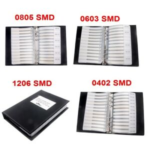 0805 0603 0402 1206 Smd Resistor Capacitor Sample Book Combo Assortment Kit