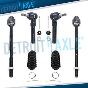 Inner Outer Tie Rod Ends Steering Boots Chevy Malibu Pontiac G6 Aura
