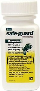 Safeguard Goat Dewormer 125ml wormer Free Shipping