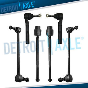 Front Inner Outer Tie Rod Ends Sway Bar End Links For Malibu G6 Aura