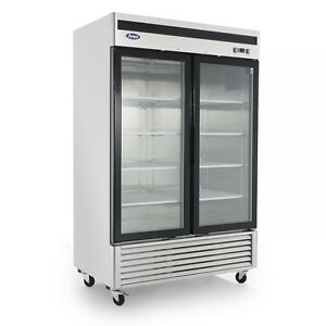 Atosa Mcf8703 54 Glass Door Freezer 2 Door Commercial Freezer Merchandiser