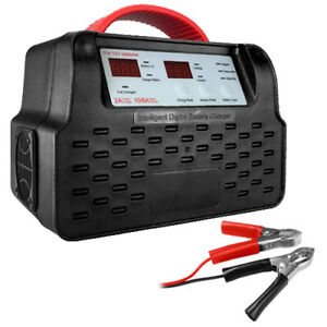 12 volt Automatic Battery Charger 2 6 10 Amp Fast Charge W Carry Handle
