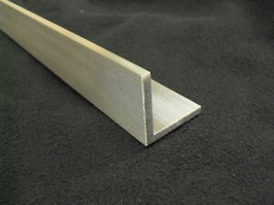 3 16 Aluminum Angle 1 X 1 X 36 Long Architectural 6063 Mill Finish