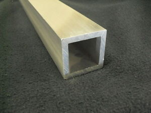 3 Aluminum Square Tube 1 4 Wall X 72 Long 6061 Square Tube Mill Finish