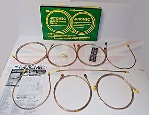 New Mgb Brake Line Brake Pipe Set 1968 1974 Lhd Dual Outlet Master Made In Uk