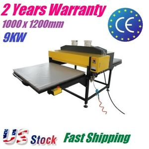 1000x1200mm 9kw Pneumatic Large Format Heat Press Machine For T shirt Printing