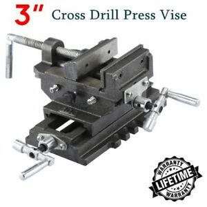 3 Cross Slide Vise Drill Press Heavy Duty Metal Milling 2 Way X y Clamp Machine