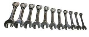 Aircraft Tools Brand New Craftsman 11pc Stubby Spanner Set Combination A f