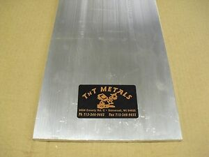1 2 Aluminum 12 X 24 Flat Bar Sheet Plate 6061 Mill Finish
