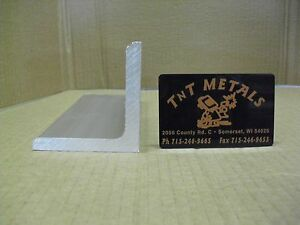 3 8 Aluminum Angle 2 1 2 X 2 1 2 X 24 Structural 6061 Mill Finish