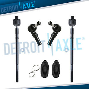 6pc Front Inner Outer Tie Rod Kit 2001 2002 2003 2004 2005 2006 Mazda Mpv