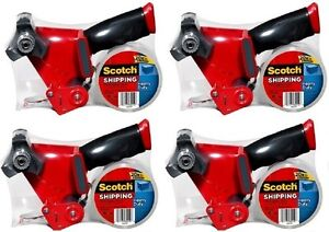 4 Ea 3m Scotch 3850 st Heavy Duty Packaging Tape With Dispenser