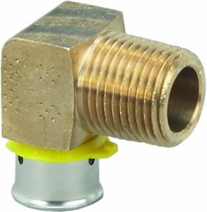 5x Viega 92525 Pureflow Zero Lead Bronze Pex Press Elbow Male 1 2 in X 3 4 in