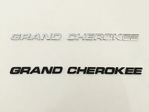 Grand Cherokee 3d Black Chrome Jeep Emblem Badge Letter Car Suv Hood Trunk Door