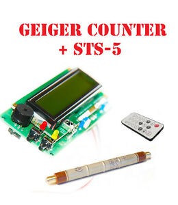 Geiger Dosimeter Counter Kit Assembled w Sts 5 Tube Ir Arduino Ide Compatible