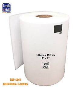 6 Rolls Of Dk 1241 Brother compatible Shipping Labels Dk1241