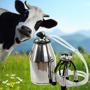 Cow Milker Milking Bucket Dairy Portable Tank Barrel Stainless Steel Milk
