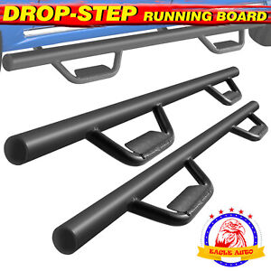 Fit 07 18 Chevy Silverado Crew Cab 3 Running Boards Nerf Bar Side Step Blk B