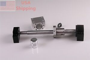Ball Screw 1605 End Machine 650mm With Ballnut Housing Couplers