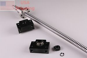 1x Ballscrew 1605 1050mm c7 With 1set Bk12 Bf12 End Support For Cnc