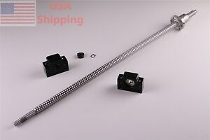 1x Ballscrew 1605 1000mm c7 With 1set Bk12 Bf12 End Support For Cnc