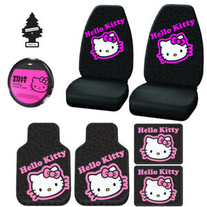 New Design Hello Kitty Car Seat Covers Floor Mats Accessories Set For Ford