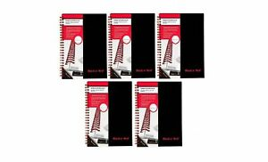 Black N Red Twin Business Notebook Hardcover Wired 8 1 4 X 5 7 8 Inches 70 S