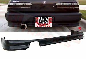 90 91 Acura Integra Coupe Mugen Style Rear Bumper Lip Unpainted Abs Plastic