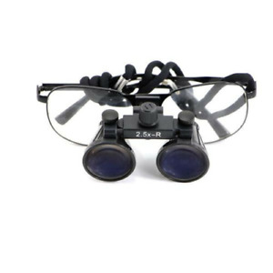 Black Dental Surgical Medical Binocular Loupes 2 5x320mm Optical Glass Magnifier
