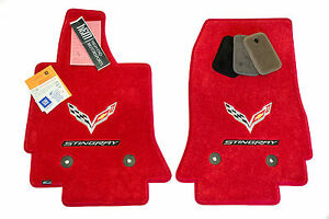 Corvette C7 Stingray Floor Mats Adrenaline Red 32oz 2 Ply Custom Fit Instock