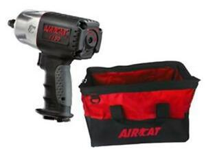 Aircat 1 2 1295 Lbs Loosening Torque Composite Impact Wrench With Bag 1150