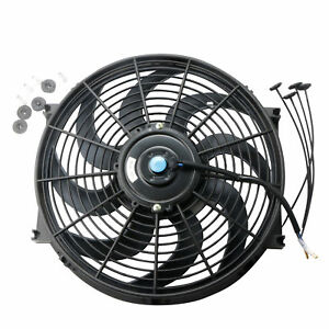 1 Pcs 14 Inch Electric Radiator Cooling Fan 12v Universal Slim Pull Push Racing
