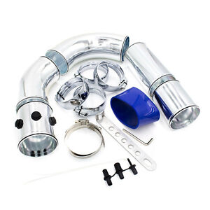 Universal 3 Car Cold Air Intake Pipe Kit Combined Alumimum Induction System