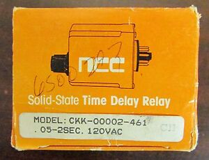 Ncc National Controls Relay Timing Module Timer 05 2 Sec 120v Ckk 00002 461