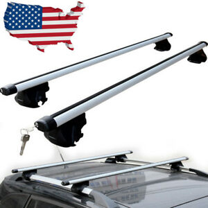 49 Universal Car Wagon Aluminum Roof Top Rail Rack Cross Bars Luggage Carrier