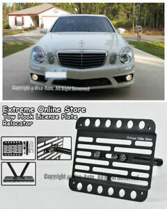 For 03 09 Mercedes benz W211 E class No Pdc Front Tow Hook License Plate Bracket