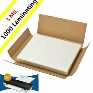 3 Mil Letter Size Clear Thermal Hot Laminating Pouches 1000 Pack 9 X 11 5 Sheet