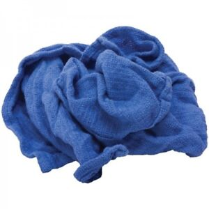120 New Blue Jumbo Glass Cleaning Shop Huck Towels Janitorial Lint Free Hh