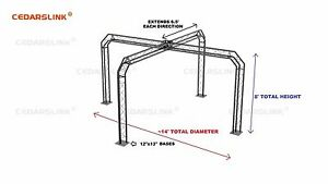 Trade Show Booth Trusses Dj Stage 14 X 14 X 8 Metal Truss Triangle Trusses