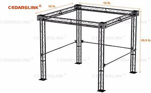 Trade Show Booth Trusses Dj Stage 12 X 12 X 10 Metal Truss Triangle Trusses
