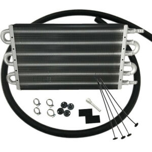 6 Row Radiator Remote Aluminum Transmission Oil Cooler Mounting Kit