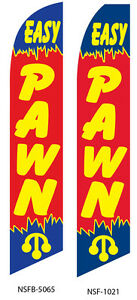 Two Easy Pawn 15 Foot Swooper Feather Flag Sign