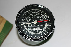 Vintage New old Stock Nos John Deere Tractor Speedometer Aa 5745 R In Org Box