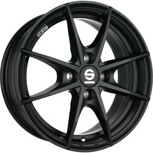 Alloy Wheels Sparco Trofeo Smart Fortwo Forfour 453 Black 16 Inch Four Piece