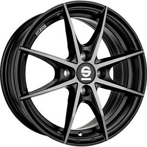 Alloy Wheels Sparco Trofeo Smart Fortwo Forfour 453 Black Polished 17 Inch