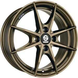 Alloy Wheels Sparco Trofeo Smart Fortwo Forfour 453 Bronze Gold 16 Four Piece