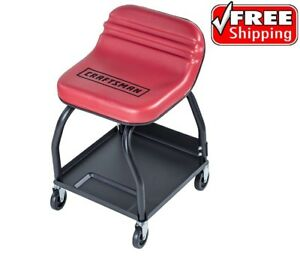 Craftsman High Rise Creeper Seat Wheels Tool Tray Mechanic Garage Shop Car Auto