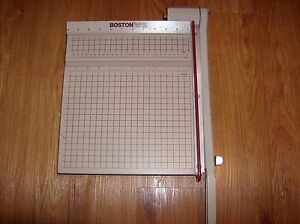 Boston 2612 Heavy Duty 12 X 12 Guillotine Paper Cutter Trimmer Wood Metal