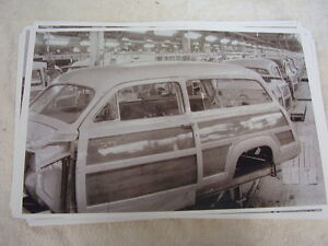 1950 Ford Woody Station Wagon On Assembly Line 11 X 17 Photo Picture