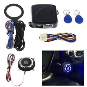 Car Ignition Switch 12v Rfid Engine Start Push Button Keyless Entry Starter